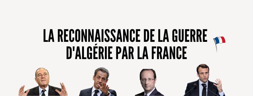 Reconnaissance de la guerre d'Algérie par la France
